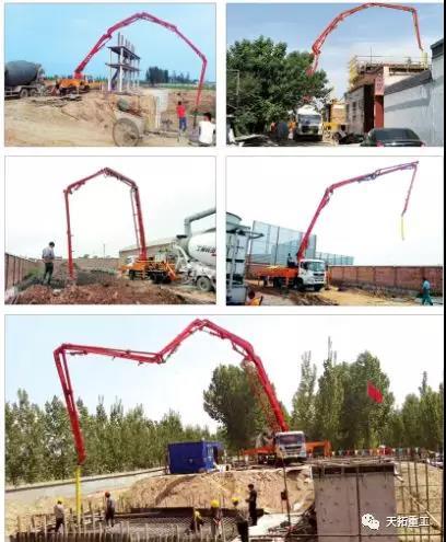 38米泵车施工案例图集